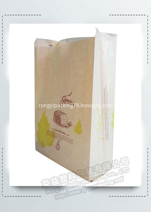 Custom Printed Packaging Paper Bread Bag in Bakery
