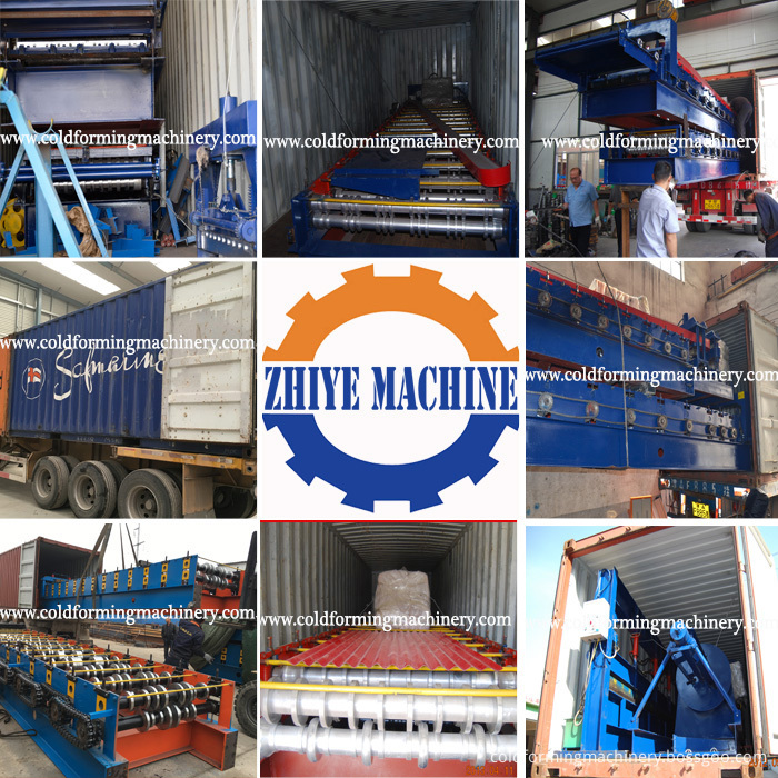 roofing sheet roll forming machine loading