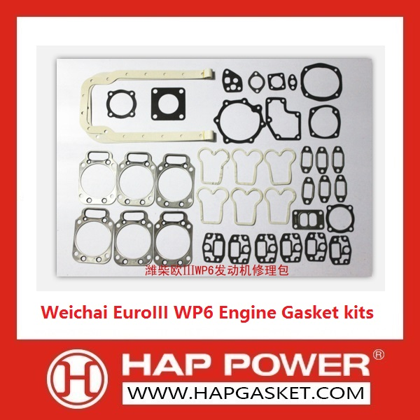HAP-HD-010 Weichai WP6 Engine Gasket kits EuroIII