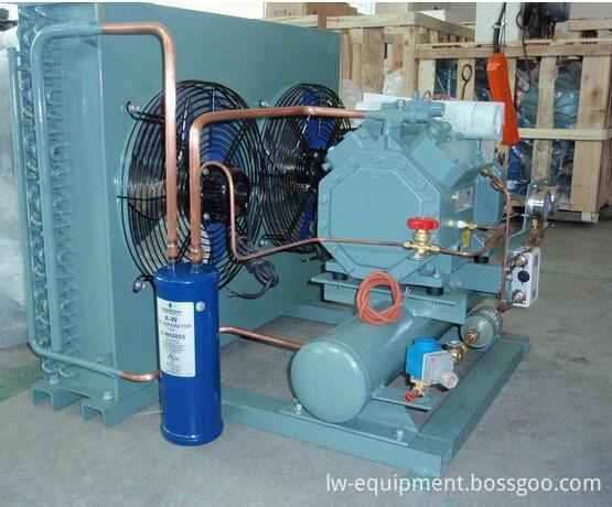 Air Cooled Bitzer Piston Compressor Unit for Cold Room