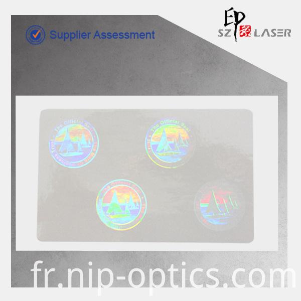 3d hologram transparent sticker