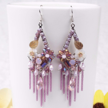 Chinese Style Personality Section Tassel Earrings