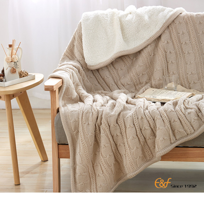 High Quality Knitted Fabric Pure Cotton Household Items Blanket