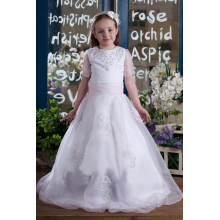A-Line/Princess Organza Floor Length Flower Girl Clothes