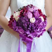 French Rose Flower Arrangement Artificial Fake Bouquet Wedding Living Room Table Home Garden Decor