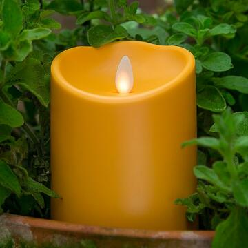 yellow luminara outdoor candle