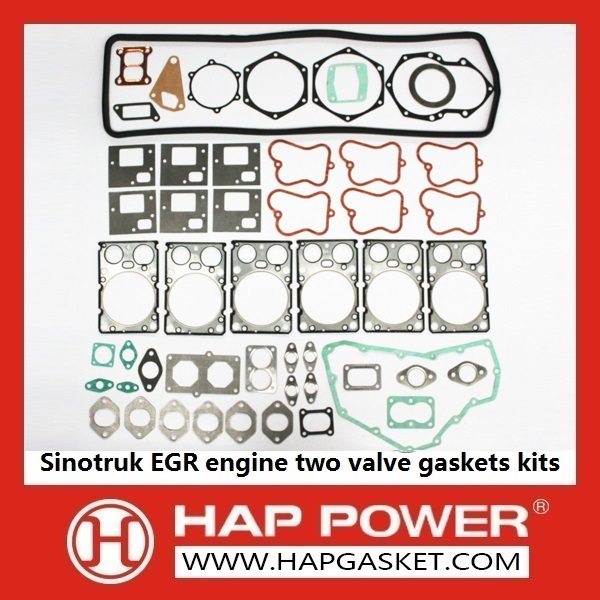 HAP-HD-0016  Sinotruk EGR  engine two valve gaskets kits