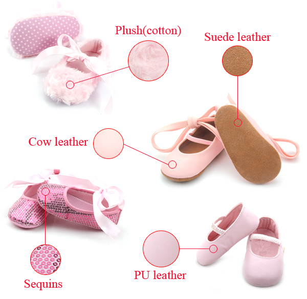 Baby Dress Shoes Materials Leather girls Shoes