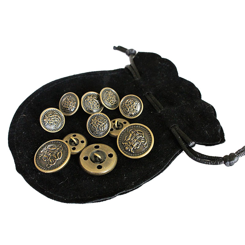 Vintage Antique Brass Metal Blazer Button Sets