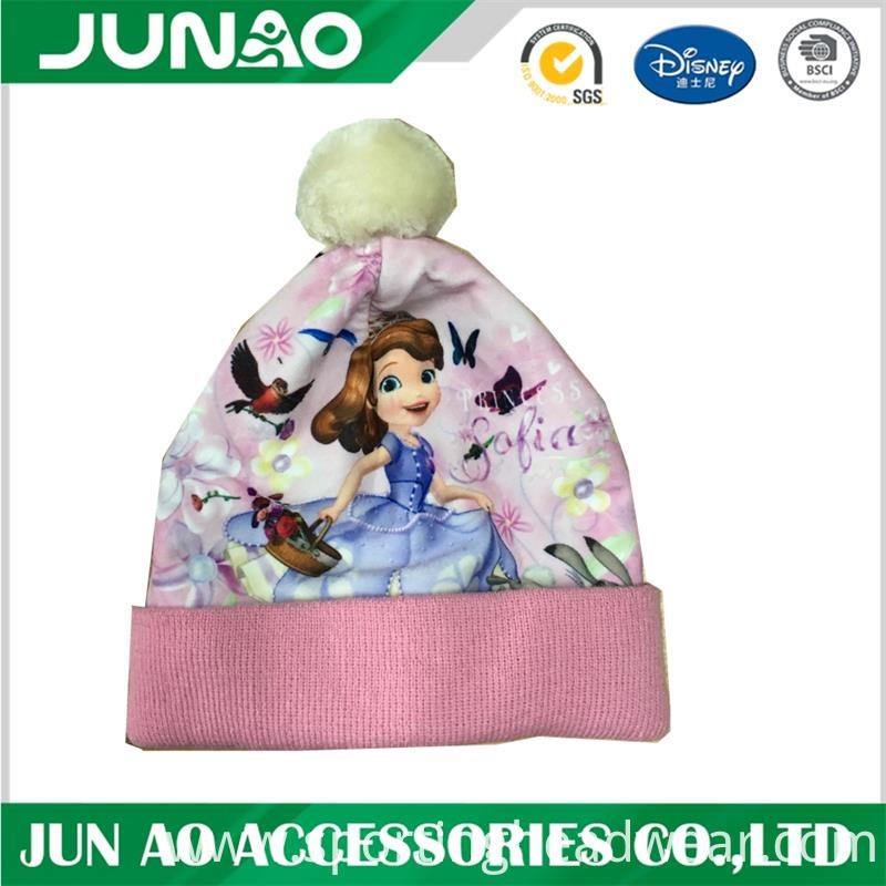 cute pattern hat with ball