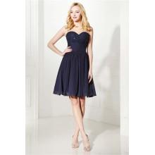 A-Line/Princess Chiffon Short Length Formal Dresses for Christmas