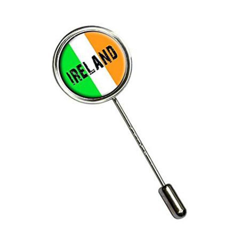 Irish Flag Stick Hat Brooch Pin