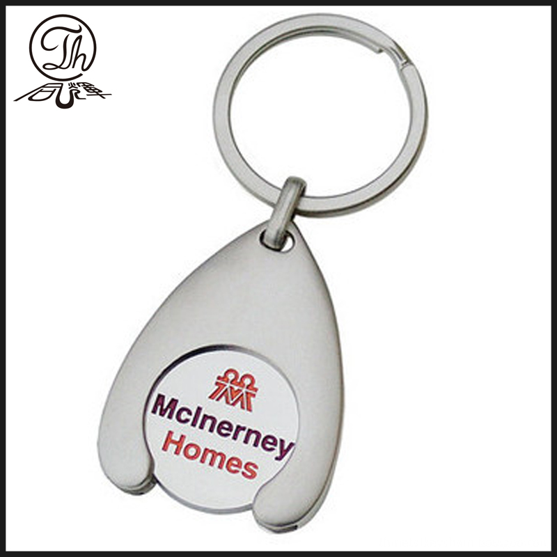 Champagne Coin Metal Key Fob