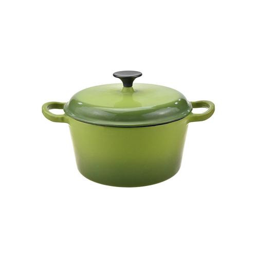 Green Enamel Cast Iron Cooking Pot Casserole
