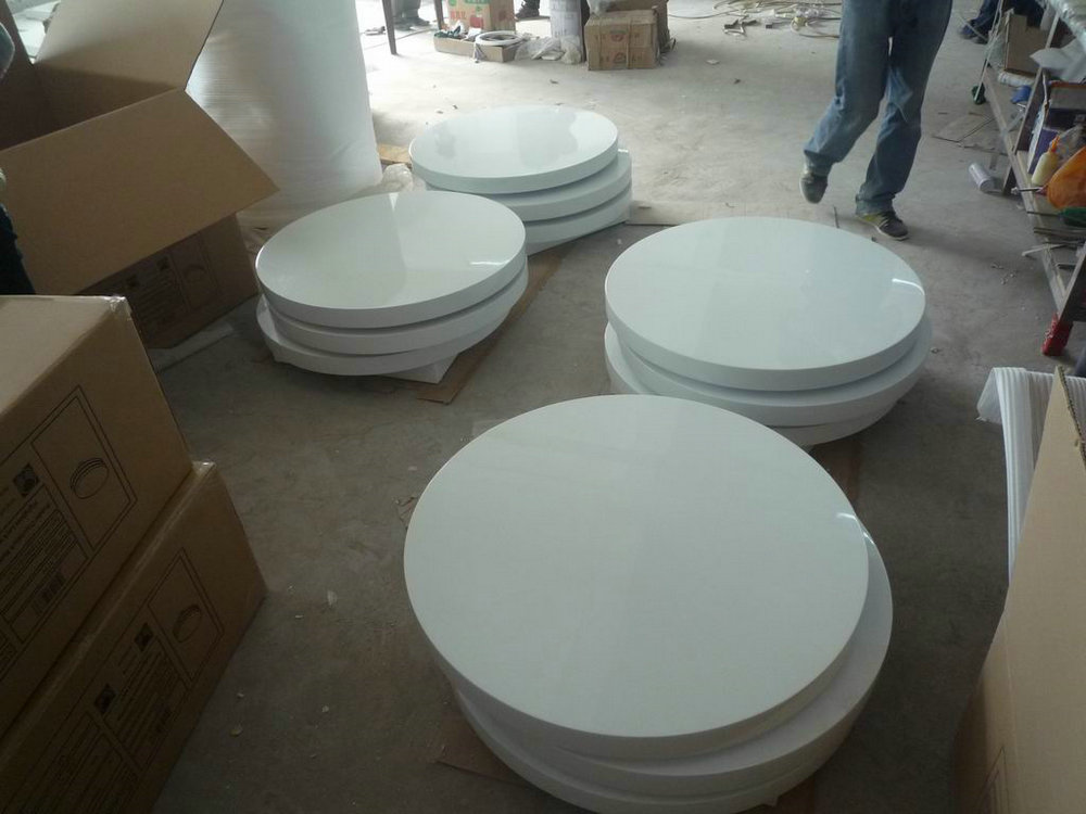 White high gloss tea table