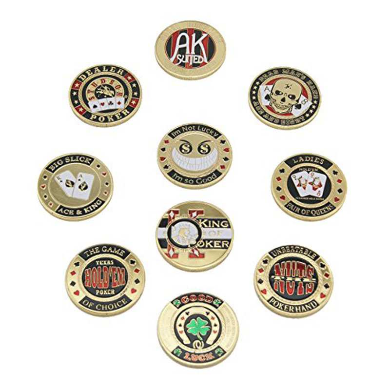 Usa Metal Pressing Poker Cards Coin