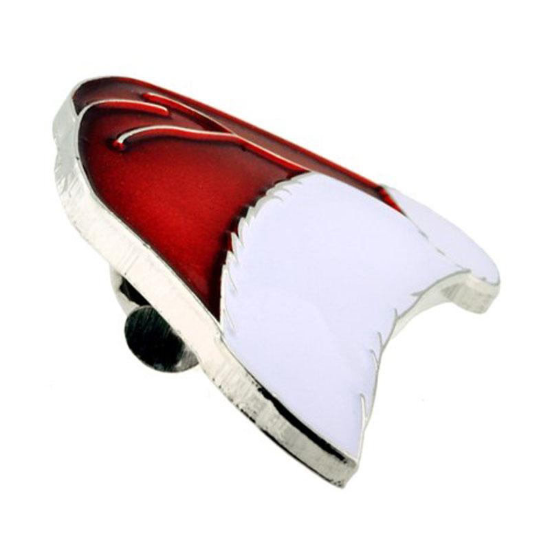Santa Hat Lapel Pin Side