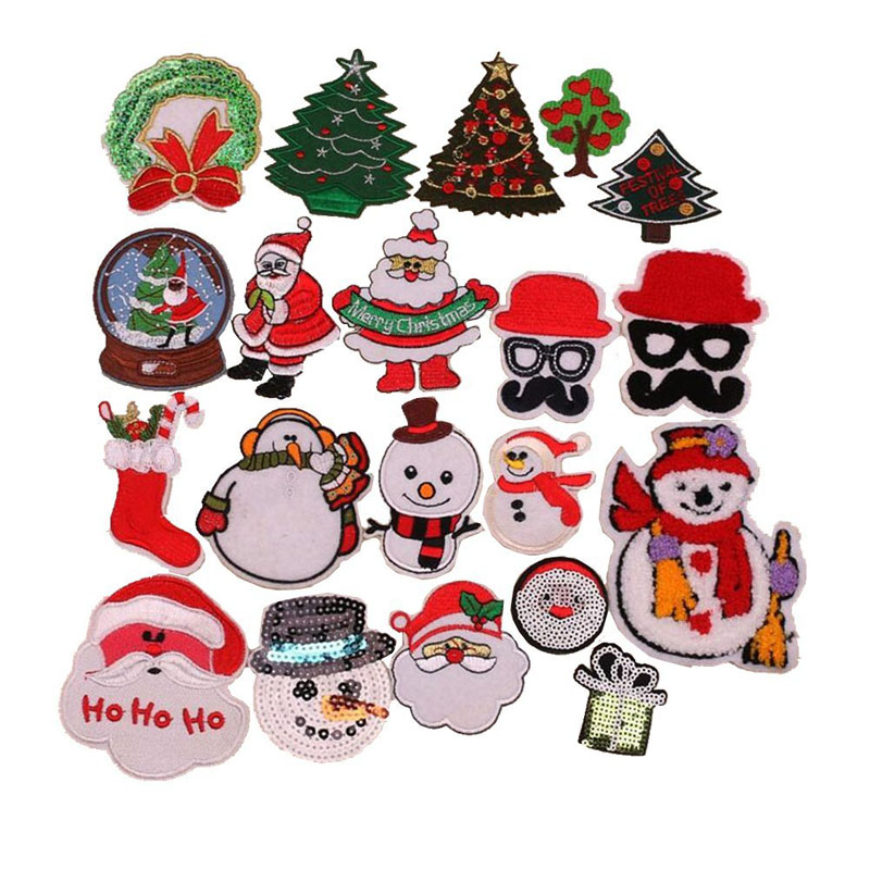 Christmas Santa Embroidery Patch