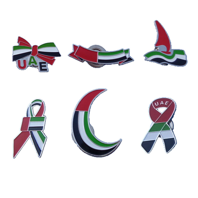 Dubai Metal Gift Uae Flag Pins