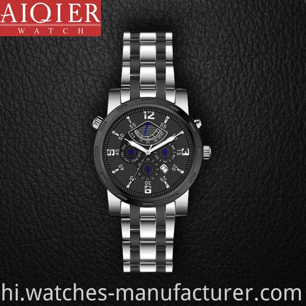 Japan mechanical movement sports watch