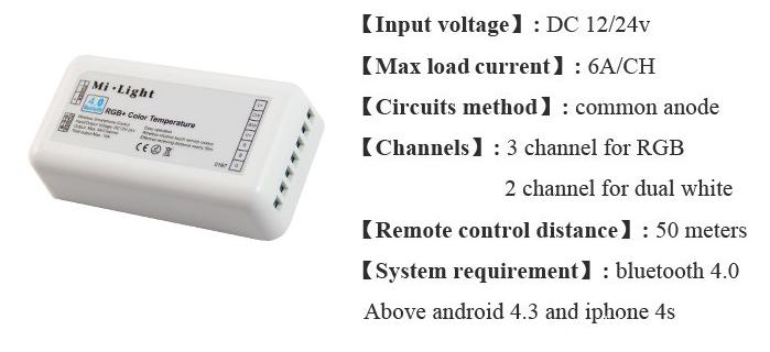 Mi light controller specifications