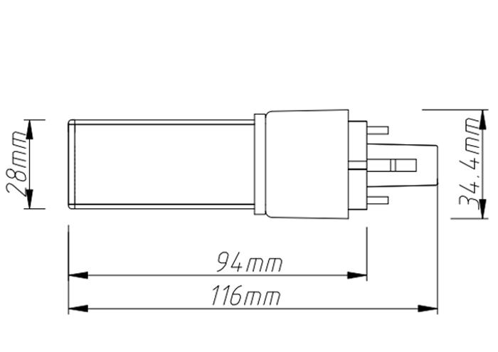 PL-08-04W  led tube pl light size