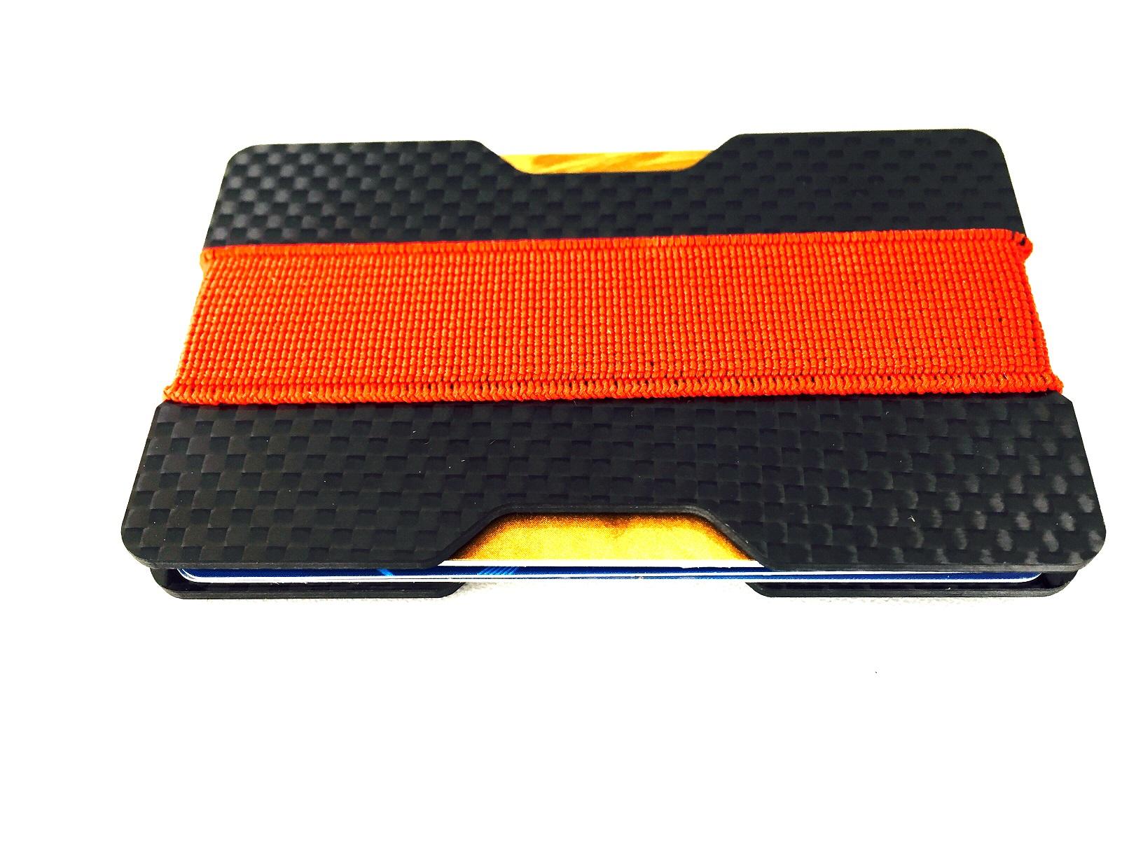 Carbon fiber money holder 2 plates