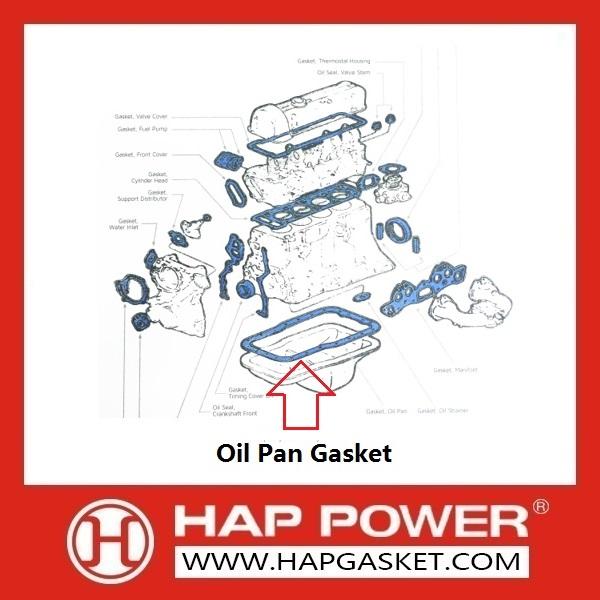 Oil Pan Gasket--HAP Gasket