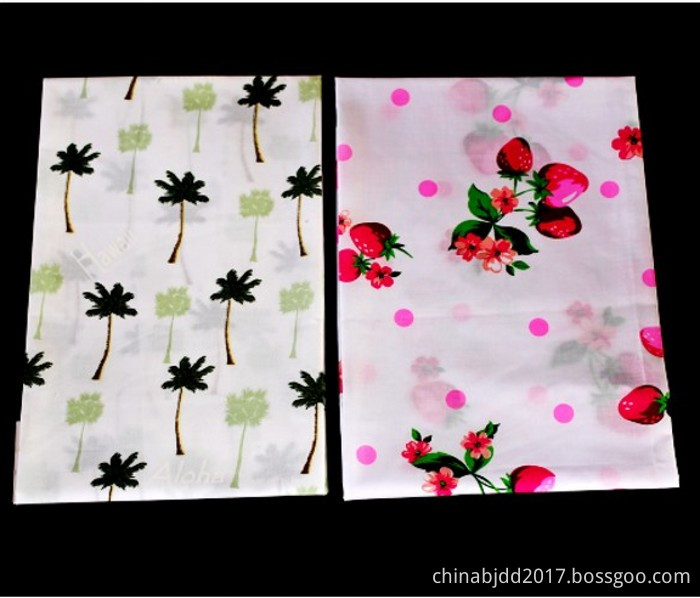 TC plain woven print fabric garment