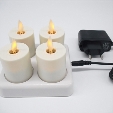 moving wick rechargeable led candles