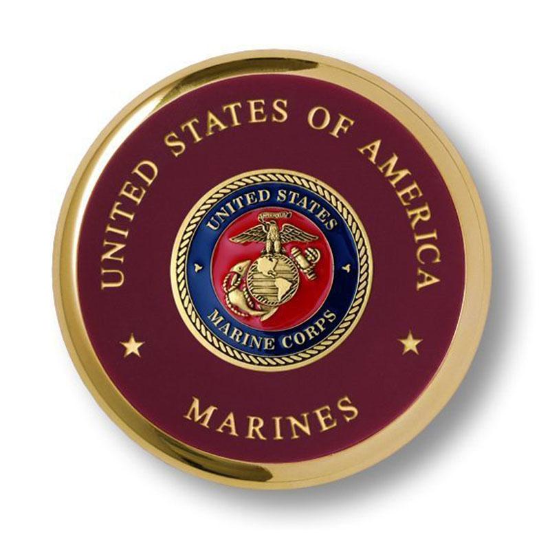 Marine Corps Seal Brass Coaster Coin