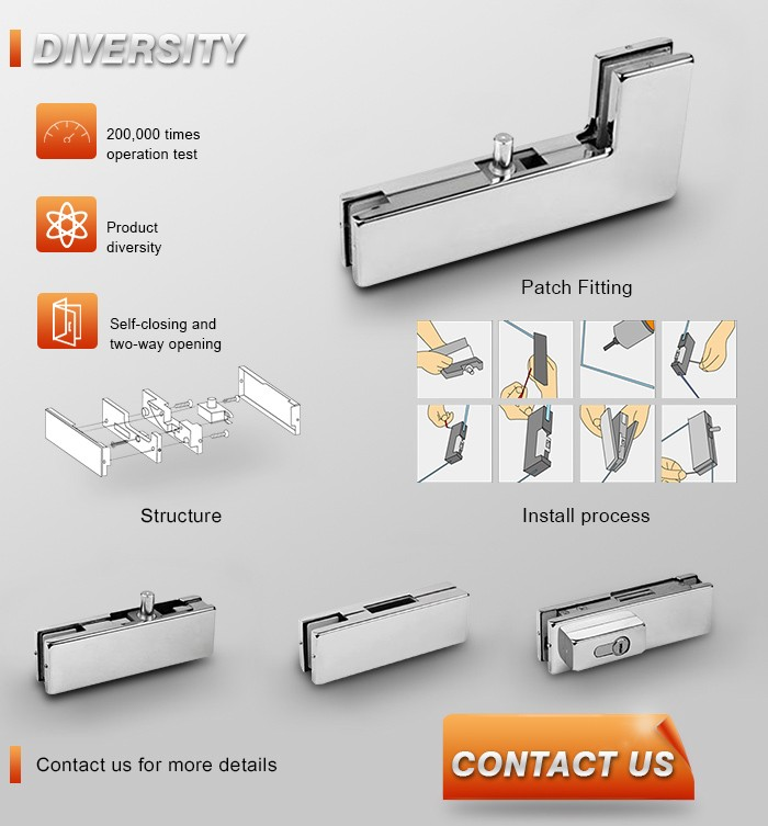 Modern Stainless Steel Glass Brackets