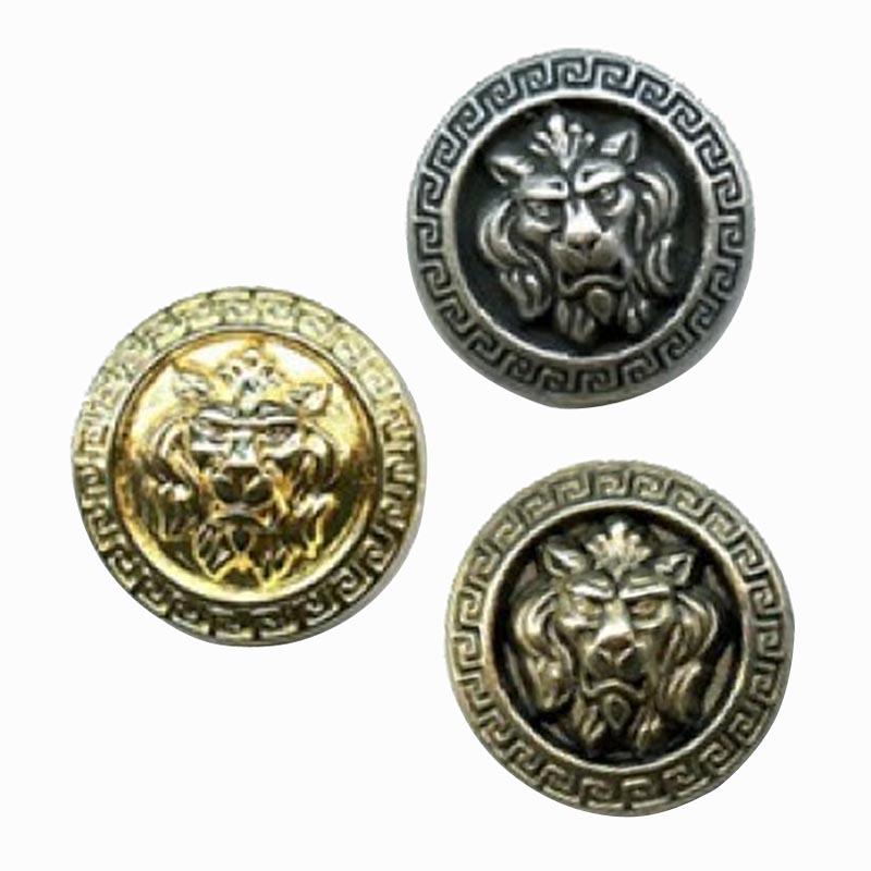 Lion S Head Metal Button