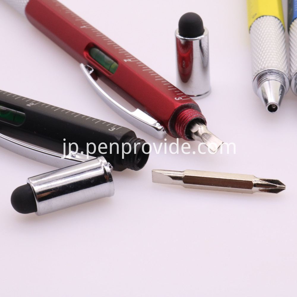 Multipurpose Pen with Stylus and Screwdriver