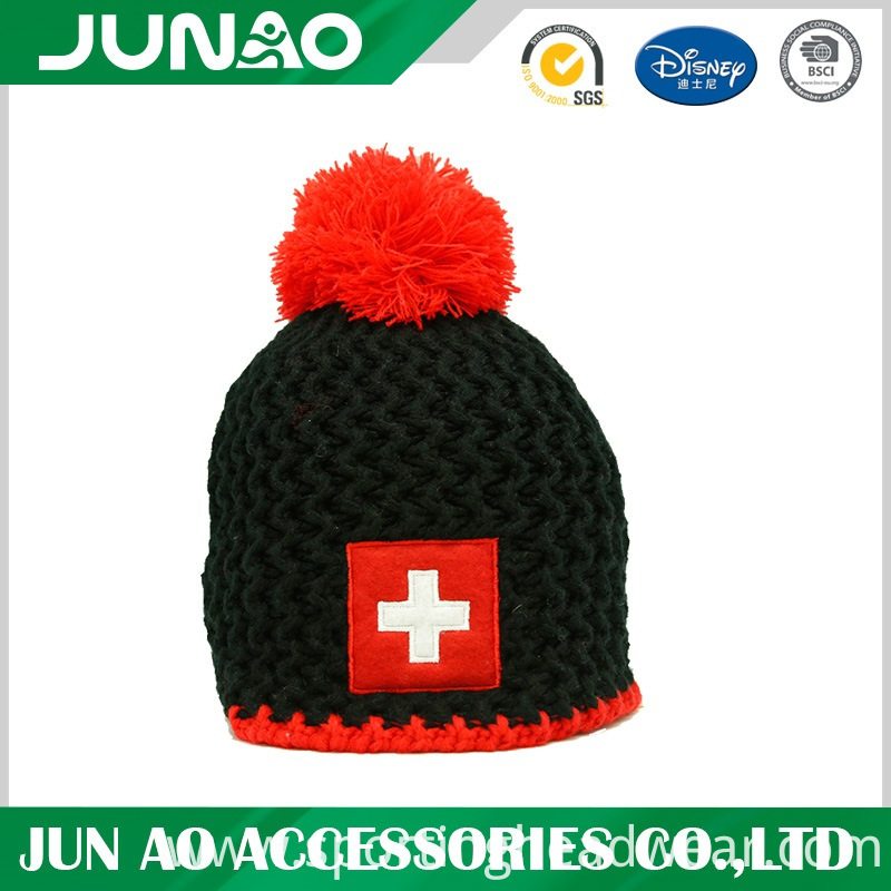 winter hat with ball