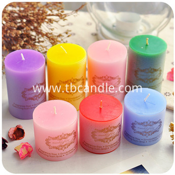 colorful large pillar scented candles