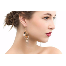 Women's Tassel Long Earring Bead Solid Color Handmade Jewelry