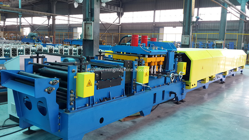 Gear box steel beam c shaped purlin forming making machine1