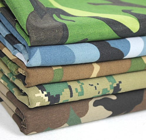 green camouflage fabric