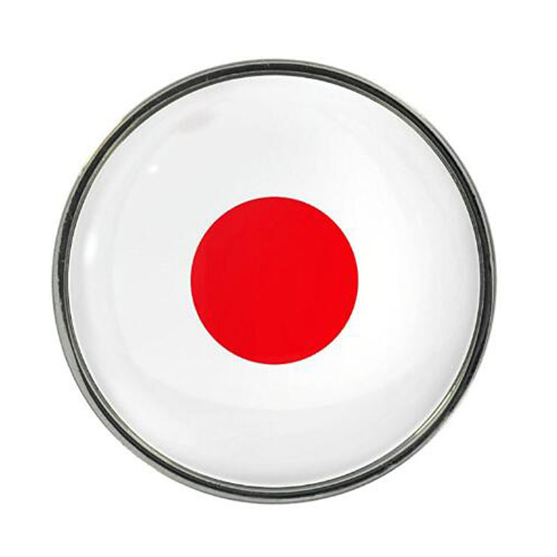 Japan Flag Design Pin Badge