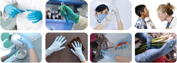 PVC gloves application