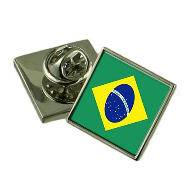 Brazil Flag Lapel Pin Badge