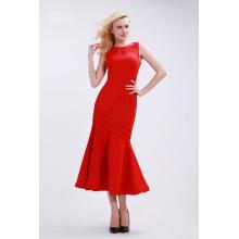Sheath/Column Elastic Satin Tea Length Simple Dresses for Homecoming