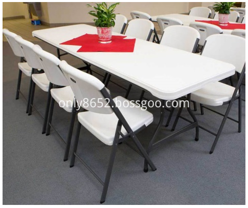 8 FT COMMERCIAL STACKING FOLDING TABLE