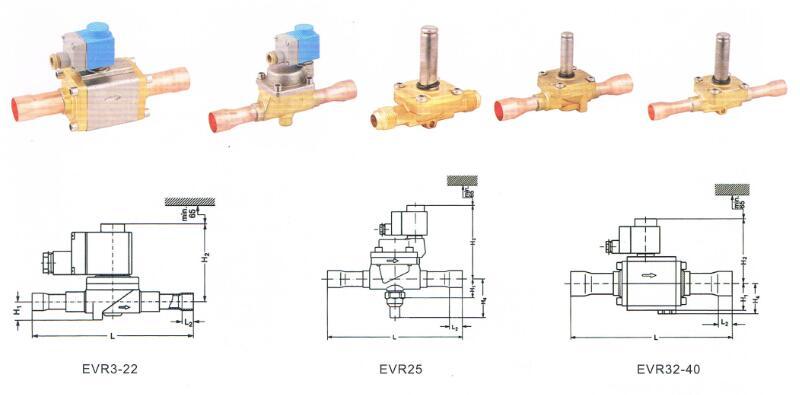 EVR solenoid valve drawings