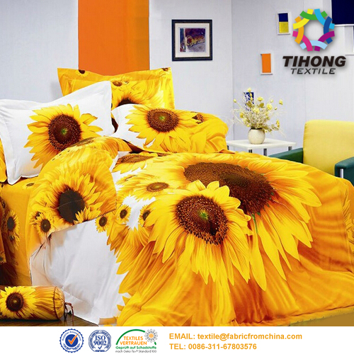 digital printed bed set fabric