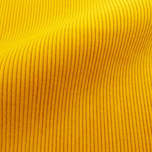 Yellow corduroy fabric