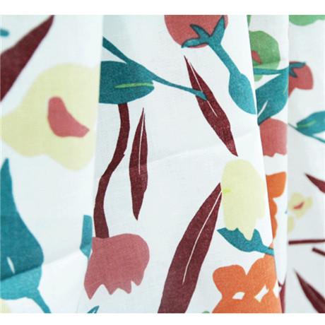 printed cotton linen fabric