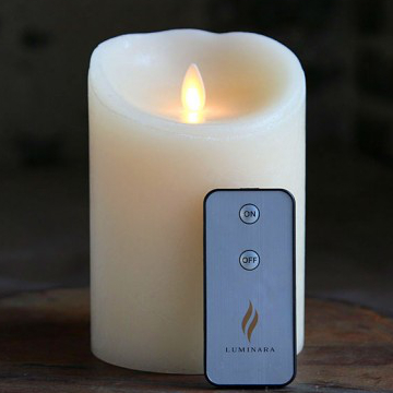 lvory led luminara candle with remote controal