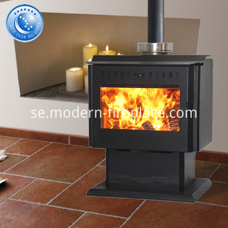 Wood Burning Fireplace With Fan